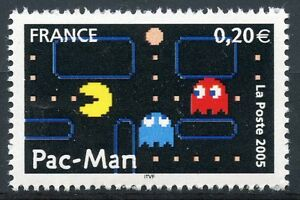 Stamp / Timbre France Neuf N° 3843 ** Heros Des Jeux Video / Pac-man Texture Nette