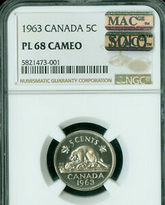 1963-CANADA-5-CENTS-NGC-PL68-CAMEO-MAC-SOLO-FINEST-GRADED-SPOTLESS