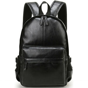 Details about VORMOR Brand Preppy Style Leather School Backpack Bag For  College Simple Design 7cc54cd20efda