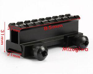 Tactical 8-Slot 21mm Weaver Picatinny Rail Base Riser Scope Mount f Laser Sight