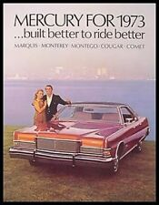 1973 Mercury Prestige Brochure- Cougar XR7 Monterey