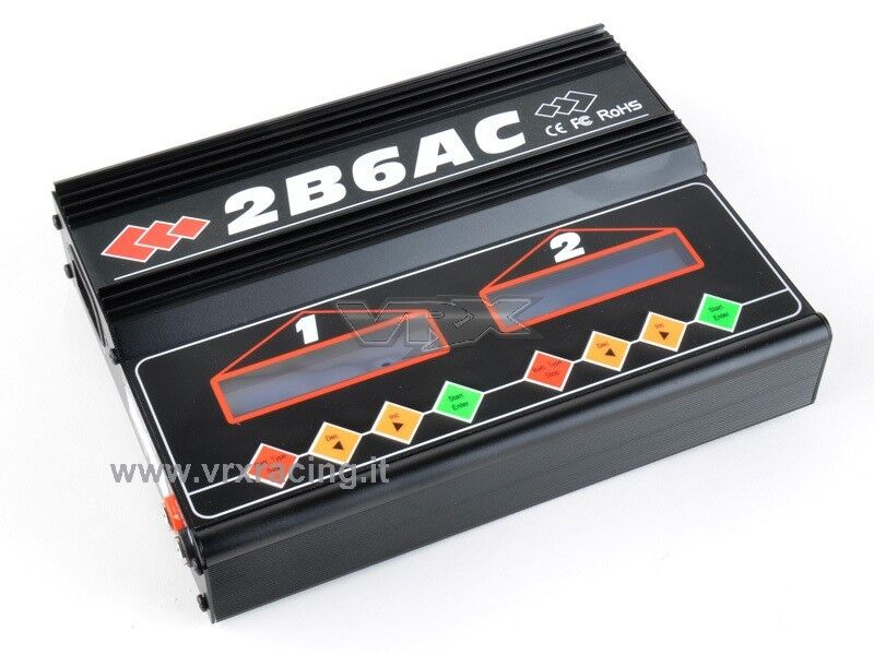 Caricabatteria professionale 2B6AC 50W per caricare caricare caricare rapido da 1 a 2 batterie VRX 37877e