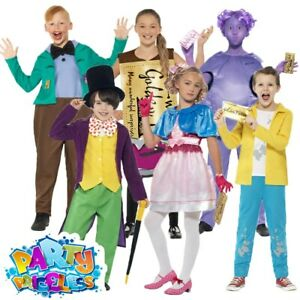 Details About Roald Dahl Willy Wonka Costume Boys Girls Chocolate Factory Fancy Dress Book Day