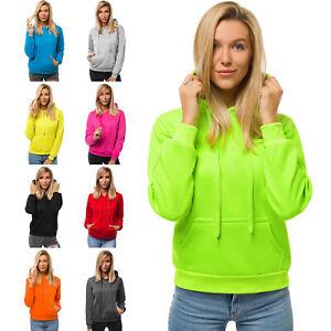Kapuzenpullover Sweatjacke Sweatshirt Hoodie Zip Unifarben Basic OZONEE 02 Damen