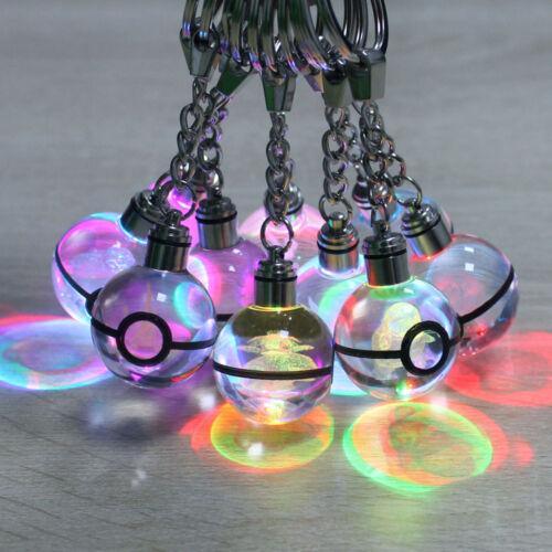 Pokemon Star Wars 3D Crystal Ball LED Night Light Key Ring Chain Creative Gifts