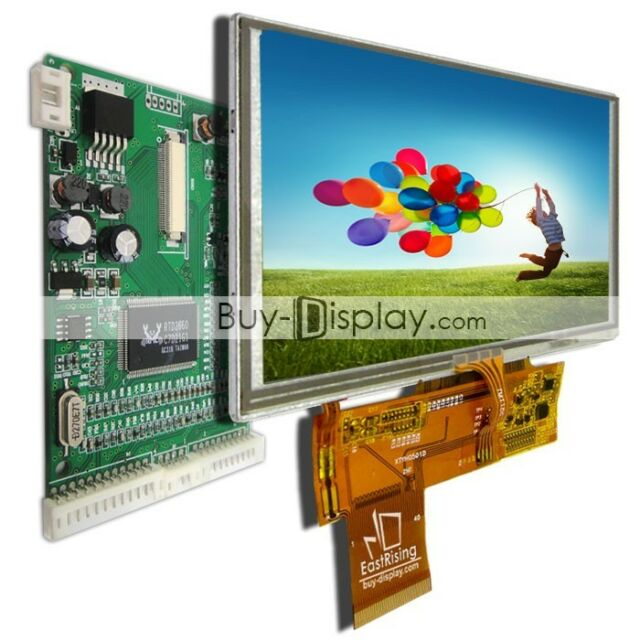 "5"" 5 inch 800x480 TFT LCD Display,Optional Touch Panel w/VGA,AV Video Board"
