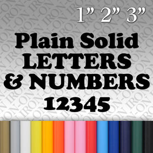 image is loading plain solid letters amp numbers iron on vinyl