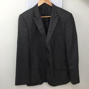 Butler et Webb Anthracite Polyester Veste Blazer Homme Taille 40R EUR 50