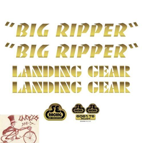 SE RACING BIKES  BIG RIPPER GOLD DECAL STICKER SET