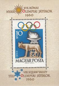 Ungarn-Nr-Block-30A-Olympia-1960-in-Rom