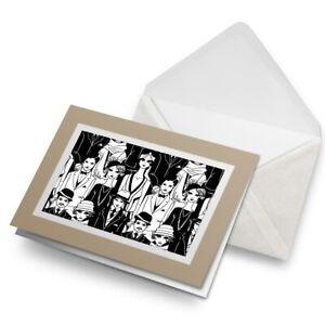 Greetings-Card-Biege-Art-Deco-Vintage-Style-People-24002