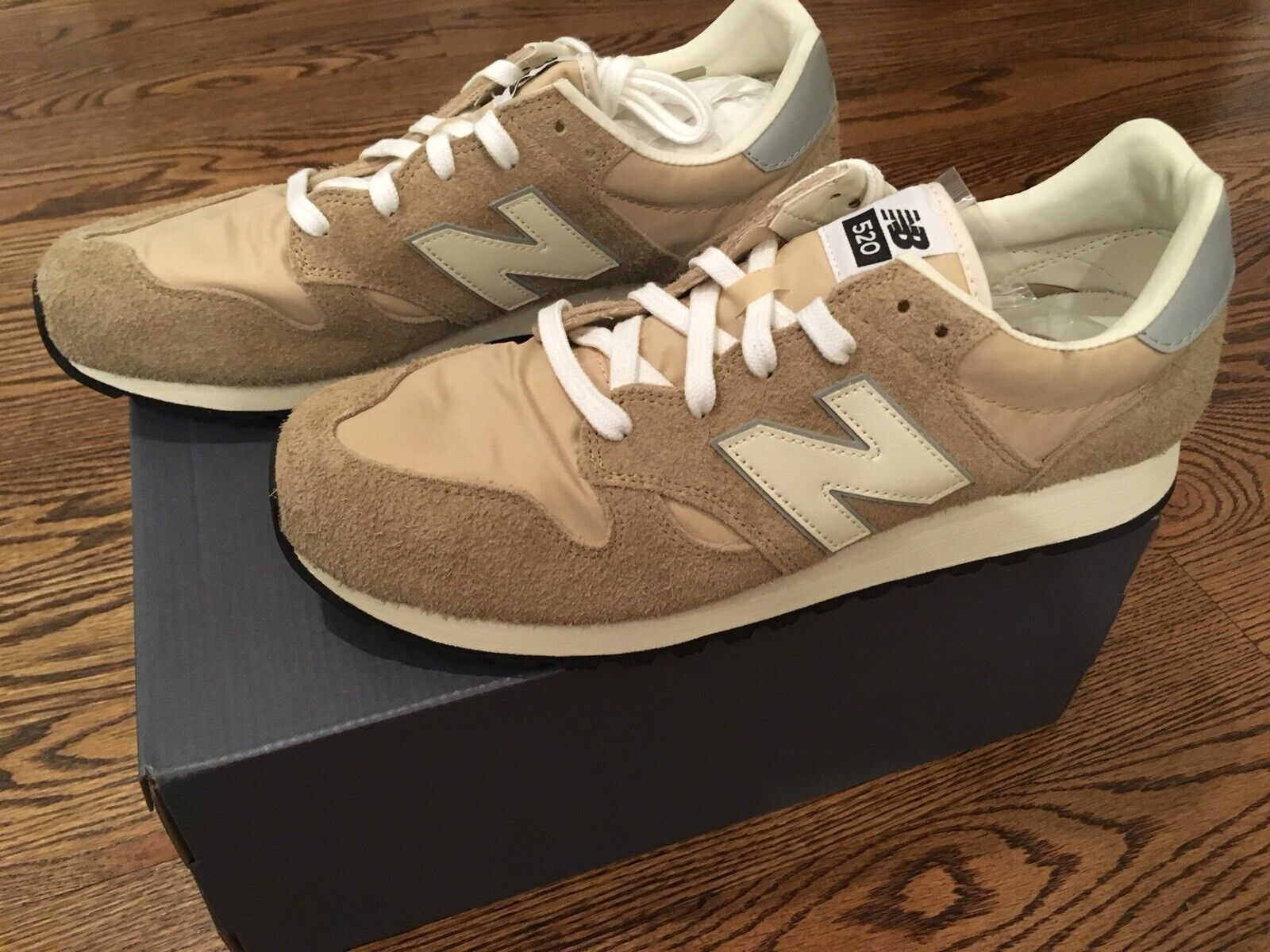 New Balance x J. Crew Classic 520 Sneakers shoes in Hairy Suede Sz 11.5 NIB