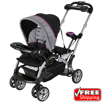 Baby Trend Sit /'N Stand Ultra Double Stroller Millennium Raspberry