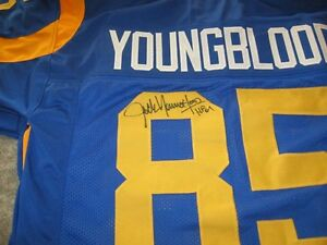 the best attitude 2d1ad 88a4a Details about Rams Jack Youngblood signed Jersey w/COA