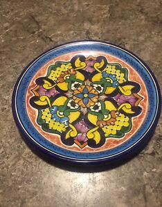 Image Is Loading Vintage Hernandez Pueblo Mexico Talavera Pottery Hand Painted