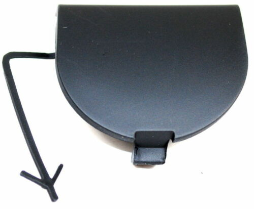 Fiat 500 Rear Bumper Towing Eye Cover Unpainted Black New Genuine 735456803