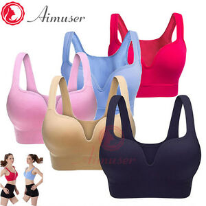 e239a16334 Women Ladies Sports Bras Push Up Gym Fitness Top Stretch Yoga Bra ...