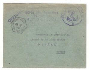 1949-Toulon-France-Service-la-Mer-Anchor-Official-U-A-F-E-Liquidation