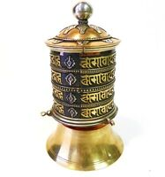 "F584 Very Artistic Stand Tibetan Prayer Wheel ""Om Mane"" Hand Crafted in Nepal"