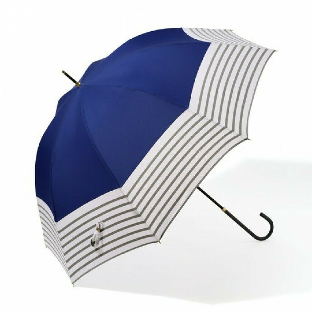 Francfranc Plage Flower Long Umbrella 58cm Navy Blue Rain Goods Accessory