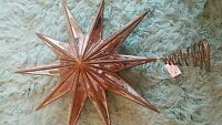 Pottery Barn Christmas Gold Mirrored Star Tree Topper