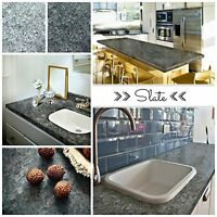 Giani Granite Slate Countertop Paint Kit, New, Free Shipping