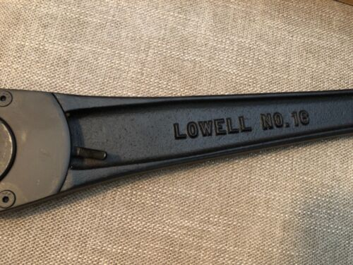 """Lowell Model 16 Reversible Ratcheting Arm 3//4 CHOICE 7//8 or 1/"""" Square"""