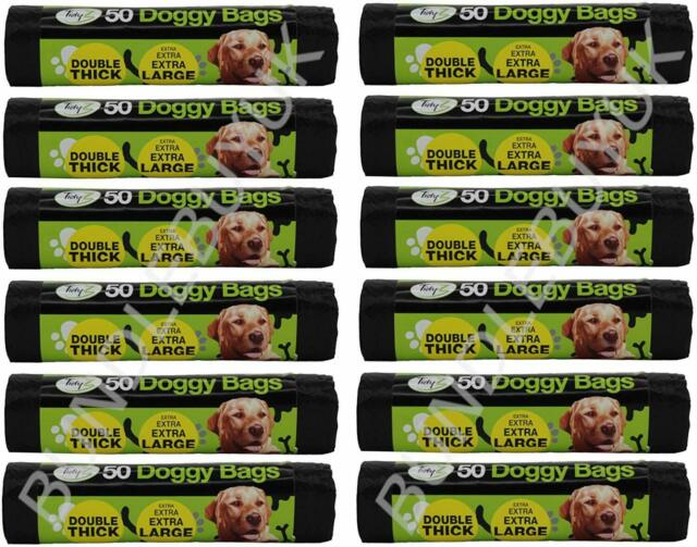 doggy poo poop bags 500 x Green biodegradable tie-handle dog waste 12 x 15 // 30cm x 38cm