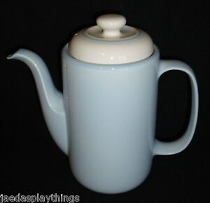 Noritake-Coffee-Tea-Pot-Misty-Isle-1987-Ireland-Blue-Keltcraft