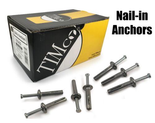 Timco ZAMAC M6 x 40 mm Marteau-Dans nail Ancres maçonnerie fixations feuille de métal bois