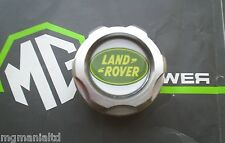 Land Rover Freelander Billett Alloy Oil Filler Cap Brand New Green Logo Insert