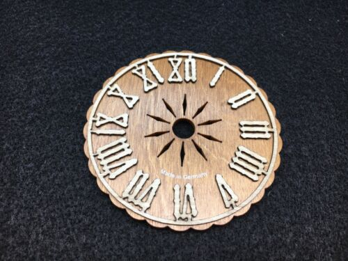 """Cuckoo Clock Dial Wood 8 cm or 3 1//8/"""" Made in Germany"""