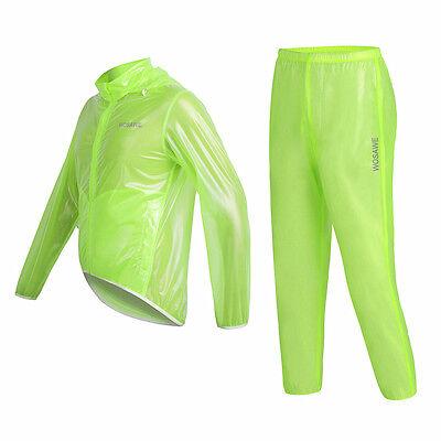 Fashion Long GREEN Runway Jacket Rain Coat Waterproof Jersey Men Womens Girls