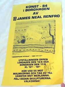1984 James Neal Renfro Exhibition in Borghagen, Germany Signed Poster