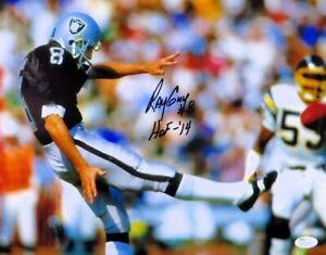 Ray-Guy-Signed-Autographed-11X14-Photo-Kick-vs-Chargers-034-HOF-14-034-JSA