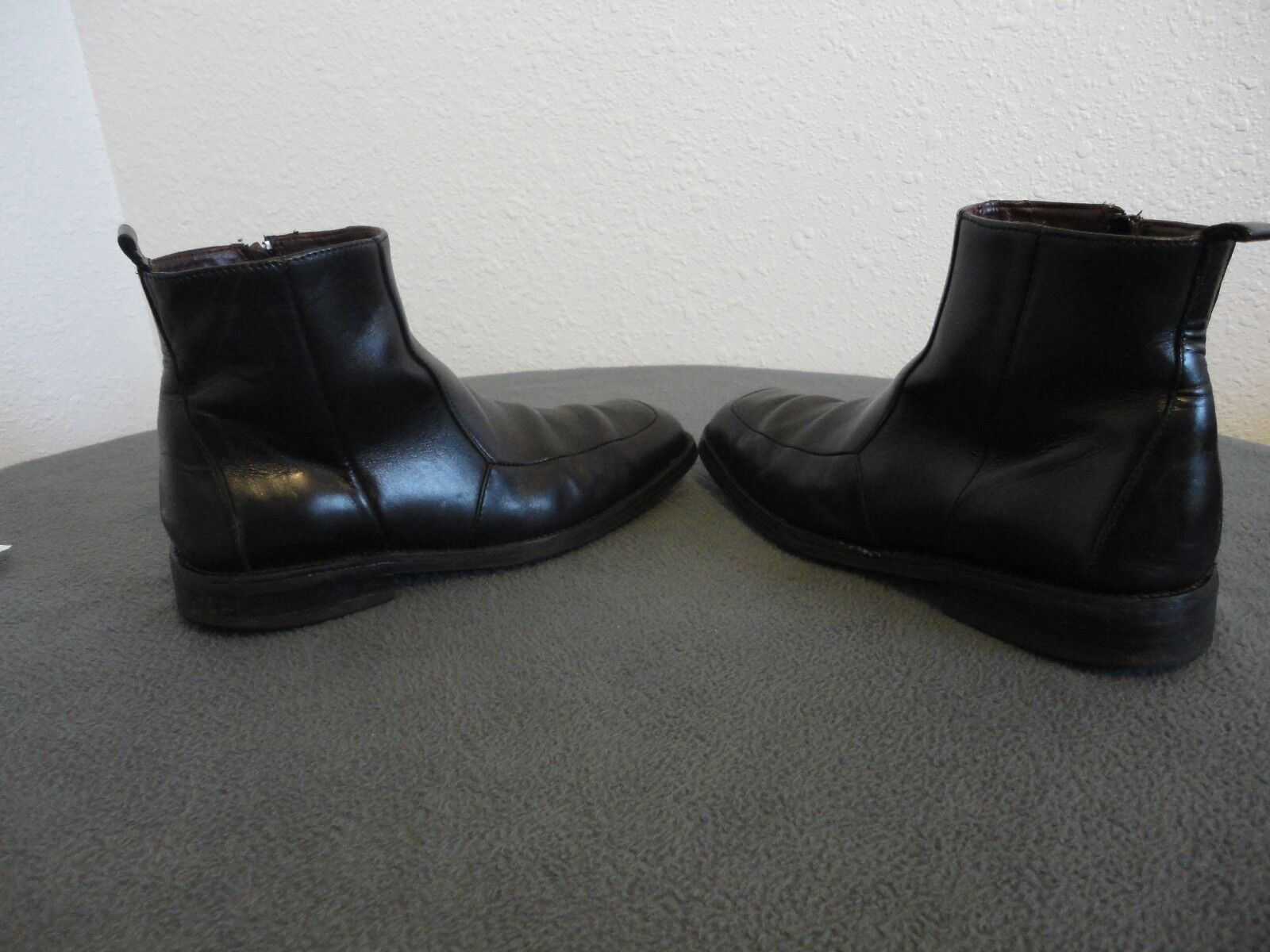 Uomo Uomo Uomo KENNETH COLE nero Leather Zip-Up Ankle NEOLITE stivali sz.9.5 Made in  906df2