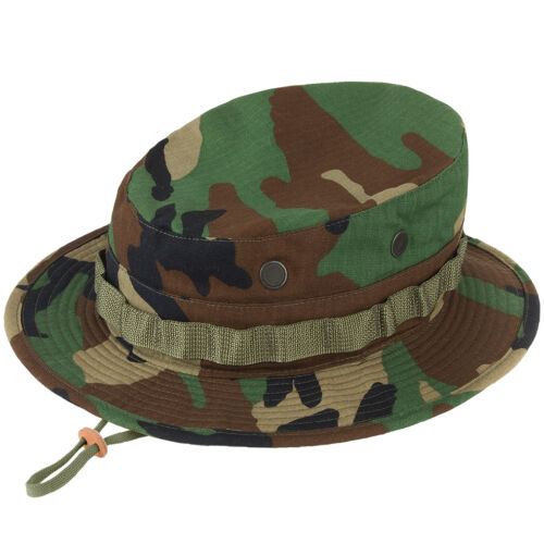 Propper Boonie Hat Mens Cotton Military Security Giggle Wide-Brim Woodland Camo