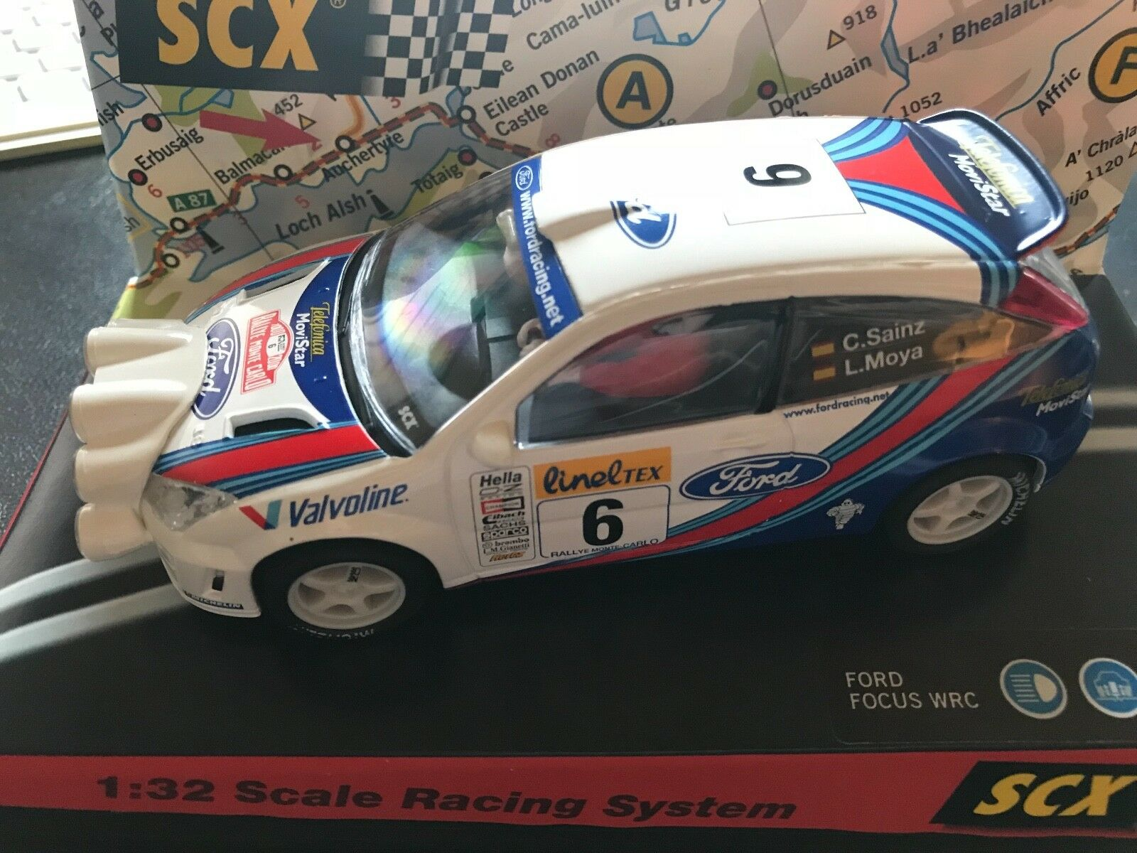 Ford Focus WRC Scalextric SCX Rally Car 1 32 Monte Carlo 2000 Carlos Sainz 60580