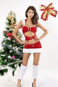 Detalles De Disfraz Sexi Navidad Santa Fiestas Para Mujeres