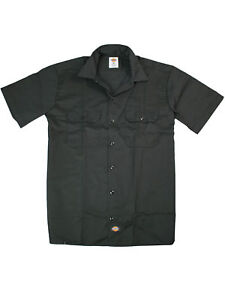 Dickies-Hemd-Kurzarmhemd-Workerhemd-Schwarz-Short-Sleeve-Original-Fit-5046