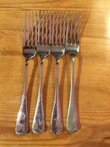 4-X-Vintage-Rodgers-EPNS-Silver-Plated-Table-Forks-19-5cm