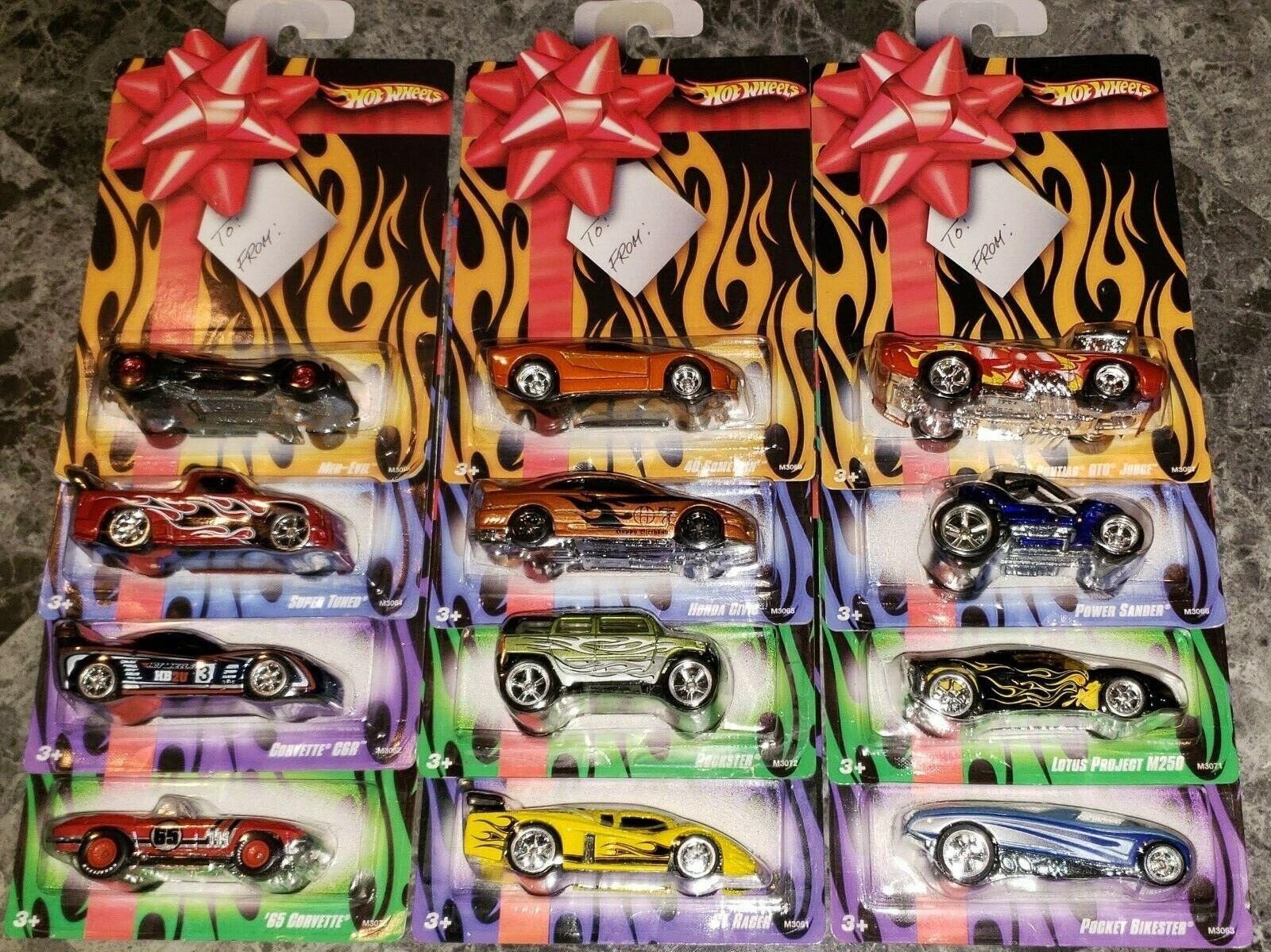 HOT WHEELS 2007 BIRTHDAY SET OF 12 REAL RIDERS CARS MOC