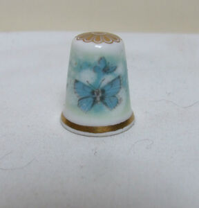 SPODE-FINE-BONE-CHINA-BLUE-BUTTERFLIES-THIMBLE-COLLECTABLE