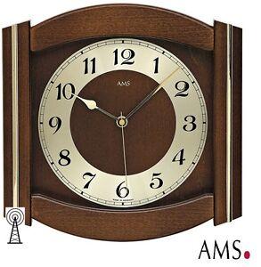 AMS-5822-1-Reloj-De-Pared-Radio-Cristal-Mineral-madera-maciza-Radio-H-B-27-cm