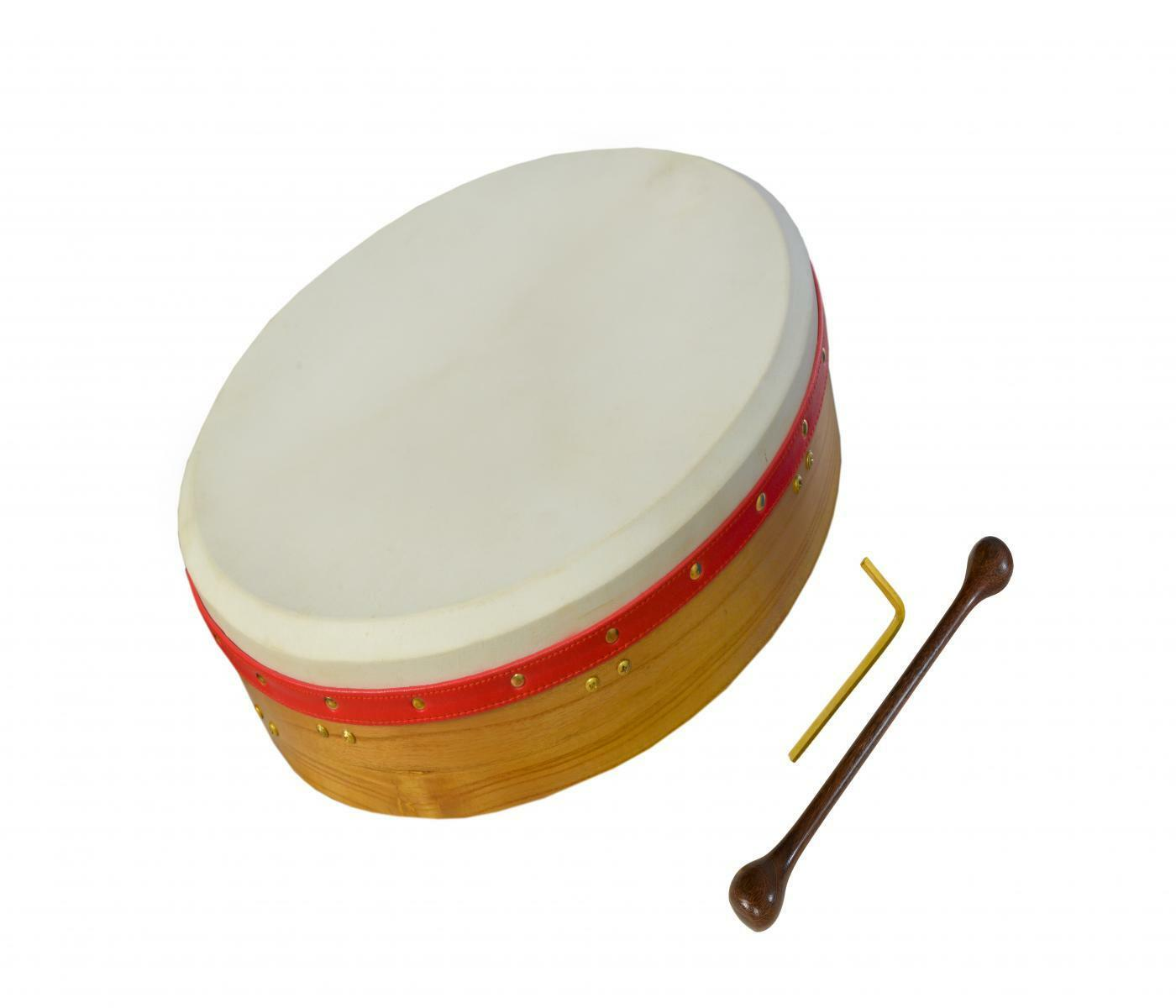 Muzikkon 18 x4  Irish Bodhran Drum Tunable Natural Finish, Irish Drum
