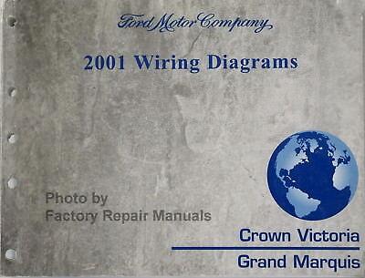 2001 Ford Crown Victoria Mercury Grand Marquis Electrical Wiring Diagrams  Manual | eBayeBay