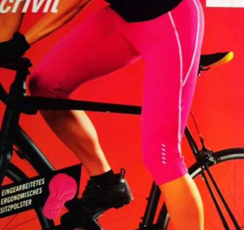 CRIVIT Femmes Short//Cuissard cycliste Pink