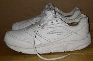 0b7d7c8435582 Image is loading Brooks-Addiction-Walker-White-Leather-Training-Shoes-Mens-