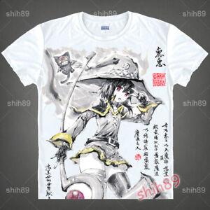 Anime-KonoSuba-Megumin-Casual-T-shirt-Short-Sleeve-Unisex-Tops-Tee-Ink-Print