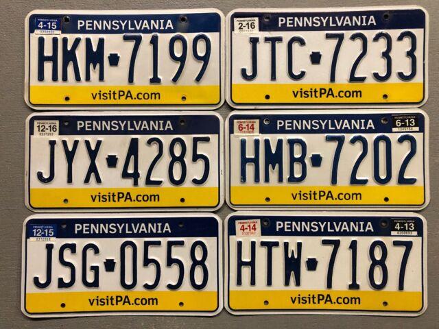 Pennsylvania Visit PA License Plate